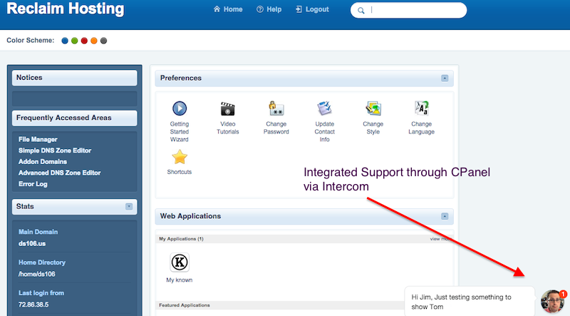 cpanel_intercom_message