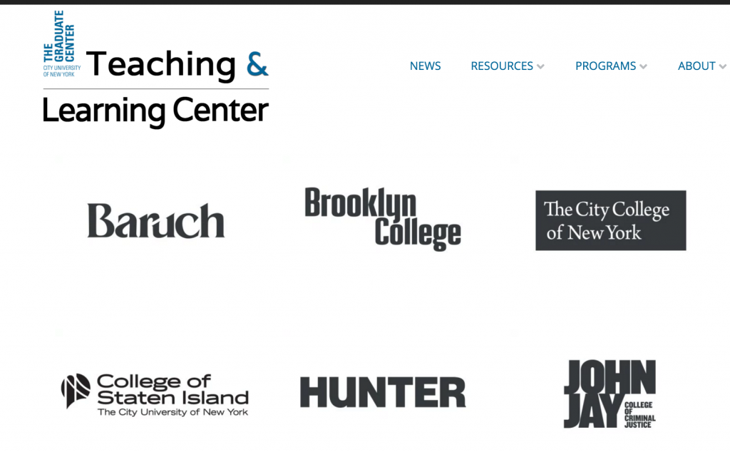 """The Grad Center Teaching and learning Center's """"navigating CUNY"""" resources for first time grad student teachers."""