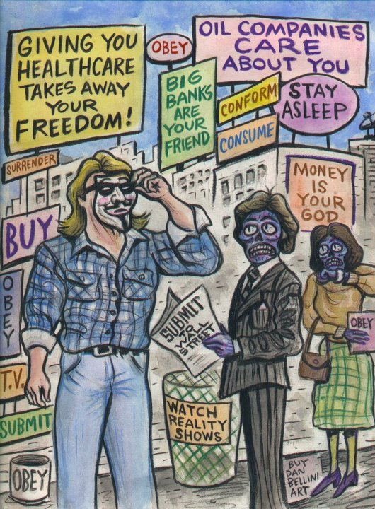 Occupy Movement themed They Live!