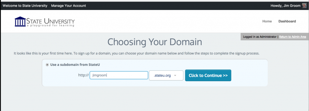 When you are choosing a domain, who are using WHMCS